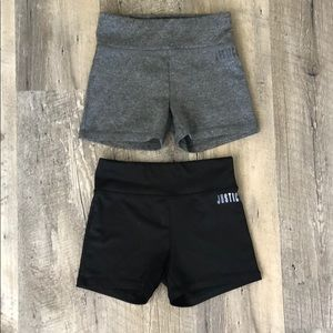 Justice girls size 10 gymnastic shorts